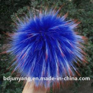 Genuine Colorful Raccoon Fur POM POM Keychain pictures & photos