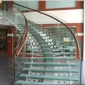 Hot Curved Tempered Glass For Stair Railings