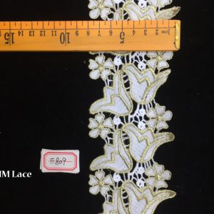 8cm Narcissus Bridal Embroidered Lace Fabric Luxury Tulle Lace Hme809 pictures & photos