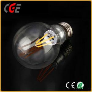 E27 4W 6W Edison A60 Gold/Silver Filament LED Bulb Light pictures & photos