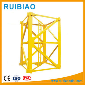 Accurate Dimension Mobile Construction Lift/Hoist Hot Galvanizing Mast Section pictures & photos