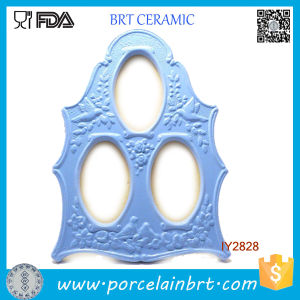 Wholesale Three Photos Irregularity Ceramic Beautiful Photo Frame pictures & photos