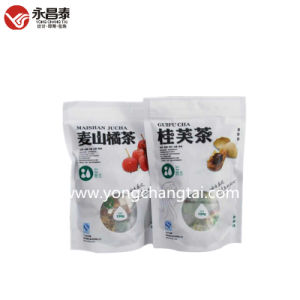 Food Stand up Plastic Packaging Pouch for Orange Tea