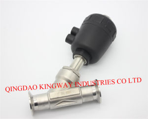 Stainless Steel Sanitary Clamped Angle Seat Valve. pictures & photos