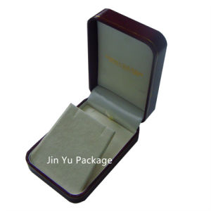 Nice Red Hand Made Gift jewelry Box with Custom Gold Logo for Necklace pictures & photos
