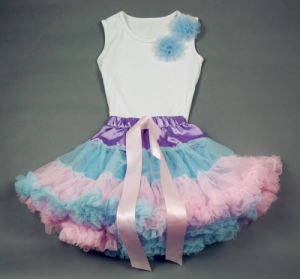 Cute Baby Pettiskirt/Tutu/Girl Pettiskirt Set/Pettitops (LC-PS-857)