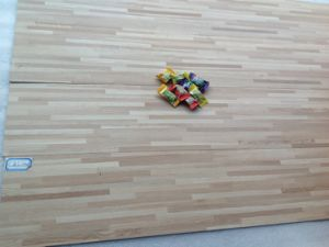 Cheap Multistrips Grey Color PVC Flooring for Commercial Use pictures & photos