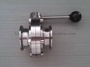 Stainless Steel Sanitary Clamped Butterfly Valve pictures & photos