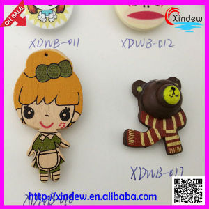 Animal Shape Cartoon Kids Wooden Button pictures & photos
