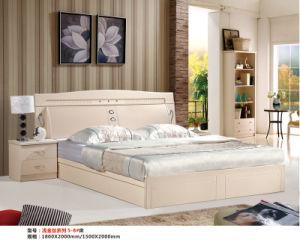 Ivory Color Kd Bedroom Furniture, Kd Dresser, Wardrobe, Bed (B2) pictures & photos