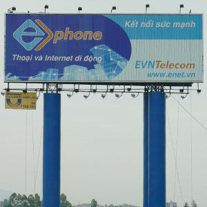 Pole Supported Horizontal Outdoor Prisma Billboard Structure pictures & photos