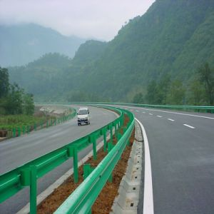 Powder Coated Highway W-Beam Corrugated Beam Guardrail pictures & photos