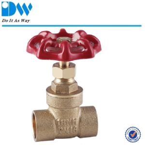 150wog Brass Gate Valve with Cast Iron Handle pictures & photos