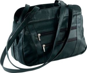 Lambskin Leather Handbag with 3 Main Zippers Components (DSLPURSE16)