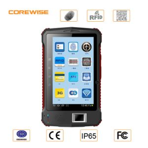 7 Inch 4G Android Fingerprint PDA with RFID Reader Barcode Scanner pictures & photos
