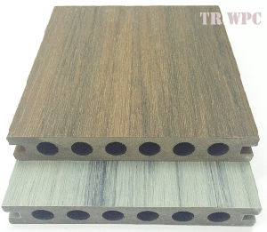Supply Cheap and Qaulified WPC Co-Extrusion Decking pictures & photos