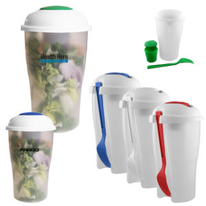 Vegetable and Fruit Use Plastic Salad Shaker Cups pictures & photos