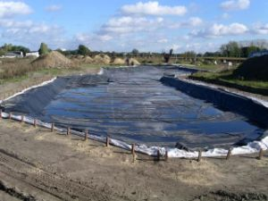 HDPE Pond Liner/Geomembrane 45mil Black pictures & photos