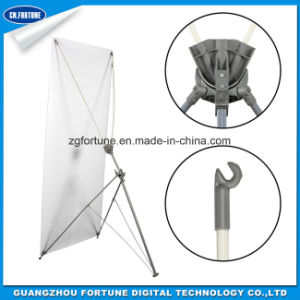 Professional Manufacturer Adjustable Square Plate Iron Tube X Banner Stand pictures & photos