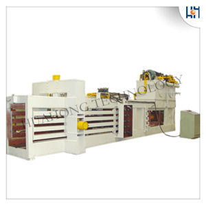 Hydraulic Full Automatic Waste Paper Cardboard Plastic Baler Recycling Machines (Factory) pictures & photos