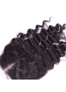 100% Virgin Hair Lace Frontal Deep Wave Lace Closure, Right Part Ear to Ear Full Lace Frontal Bleached Knots with Baby Hair pictures & photos