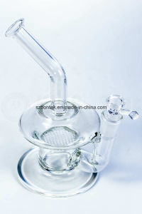 Single Honeycomb Bent Neck UFO Glass Water Pipe pictures & photos
