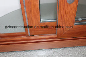 Wood Grain Sliding Window Aluminum Window pictures & photos