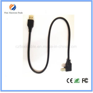 Top Quality Micro USB Cable 90 Degree White 2.0 USB Cable pictures & photos