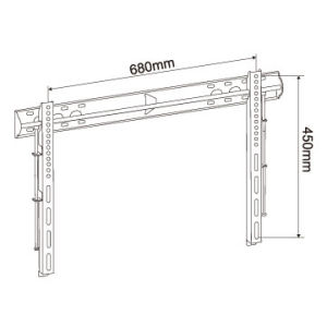"""Low Profile Slim Universal Wall Mount TV Holder for 32"""" to 60"""" LED LCD PDP Tvs pictures & photos"""