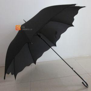Wood Bending Hook Super Long Handle Automatic Umbrella Business Men′ S Straight Bar Anti Riot Umbrella (YS-1023A)