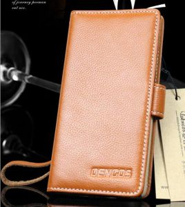 Folio Genuine Leather Case for iPhone/Apple/Samsung Optional pictures & photos