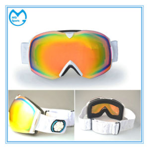 White PC Coated PC Racing Eyewear Ski Goggles pictures & photos