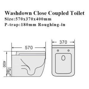 Watermark Bathroom Water Closet Sanitary Ware Ceramic Toilet pictures & photos