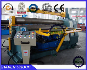 W11H-10X3000 3 Rolls Automatic Plate Industrial Bending Rolling Machine pictures & photos