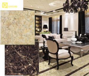 Super Black Tile Golden Polished Marble Floor Tiles in Factory pictures & photos
