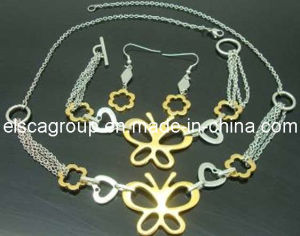 Fashion Stainless Steel Gold Women Jewelry Sets