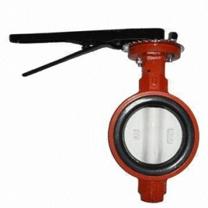 Wafer Ductile Iron Butterfly Valve pictures & photos