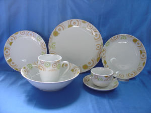 Porcelain Dinnerware Set, Round Tableware Set (JC5Y020)
