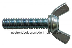 Wing Screws DIN316 with White Zinc Plated Cr3+ Carbon Steel / Stainless Steel pictures & photos