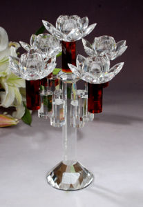 Fashion Crystal Candelabra Wedding Candlestick Decoration Candle Holder pictures & photos