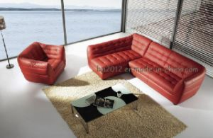 Living Room Genuine Leather Sofa (SBL-390) pictures & photos