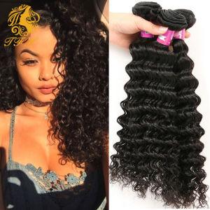 Natural Color Malaysian Deep Curly Virgin Hair Style 3PCS Malaysian Virgin Hair Kinky Curly 100% Remy Human Hair Bundles Deals pictures & photos