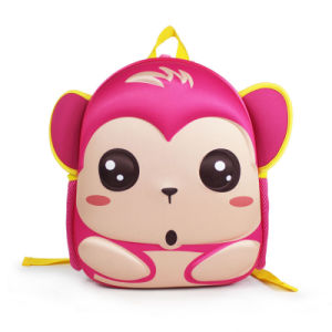 2017 Cute Cartoon Monkey Neoprene Backpack for Children pictures & photos