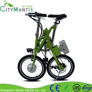 36V 250W Carbon Steel Folding E-Bike with Shimano 7 Speed pictures & photos