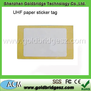 UHF Paper Label with Gen2 Chip 868MHz or 915MHz, ISO Size 85*54mm