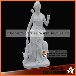 Hunting Women Statues in White Marble Nss048 pictures & photos
