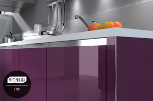 New Acrylic MDF Modern Kitchen Cabinet (zv-008) pictures & photos