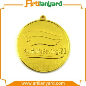 Plated Gold Metal Sports Aword Medals with Ribbon pictures & photos