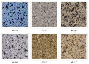Kefeng-215 Granite Pattern Kitchen Tops Engineered Quartz Stone pictures & photos