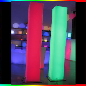 73′′ Waterproof Outdoor Floor Lamp Illuminated LED Party Cylinder Lamp pictures & photos
